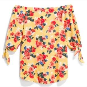 NWT STATUS Grassley Off The Shoulder Floral Blouse